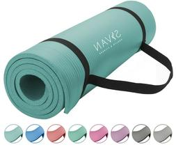 Foam Yoga Mat NBR 1/2-Inch Extra Thick 71-Inch Long for Exer