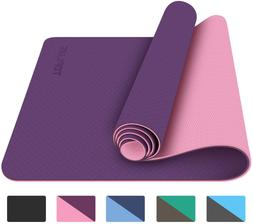 1/4-in Non Slip Fitness Exercise Mat w/ Carrying Strap Worko