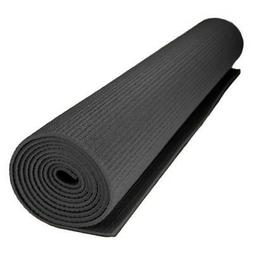 1/8-inch  Compact Yoga Mat with No-Slip Texture - Black