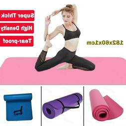 10mm Thick Nbr Exercise Yoga Mat Gym Workout Fitness Gymnast