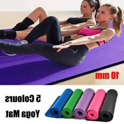 10mm Yoga Mat Thick NBR Non-slip Workout Fitness Exercise Pa