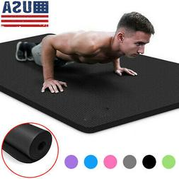 10mm Yoga Mat Thick Non-slip Durable Exercise Fitness Gym Ex