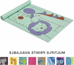 Kids Yoga Mat Exercise Mat with Fun Prints, Playtime and Act
