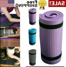 15MM Yoga Mat Thick Non-slip Durable Exercise Fitness Gym Ex
