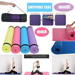 4/10MM Yoga Mat Thick Non-slip Durable Exercise Fitness Gym