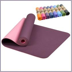 6MM Non Slip Yoga Mats Fitness 8 Colors Exercise Sports Pads