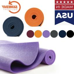 Athletic Exercise yoga mat MADE IN USA Multi color FAST SAME
