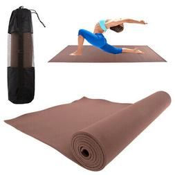 Brown Eva Yoga Mat With Carry Bag Strap 7mm Soft Non-Slip Ec