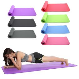 Colorful 10mm Thick Non-Slip Yoga Mat Pad Exercise Fitness L