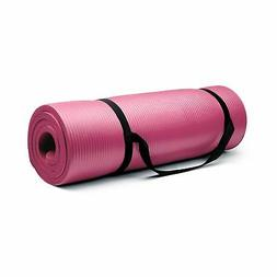 Crown Sporting Goods 3/4-Inch Extra Thick Yoga Mat with No S