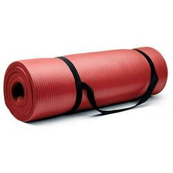 Crown Sporting Goods Extra Thick Yoga Mat with No Stick Ridg