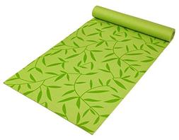 Eco-Friendly 5 mm Double Vein Yoga Mat in Bamboo Leaf Green