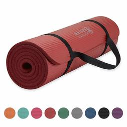 Gaiam Essentials Thick Yoga Mat Fitness & Exercise Mat with