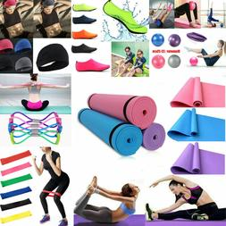 Exercise Fitness Pilates Sports Yoga Mat Gym Ball Socks Head