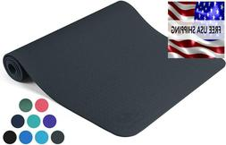 Exercise Mat Yoga Pilates  Gray Clever And Workout For Home
