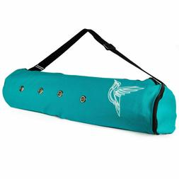 Peace Yoga Exercise Tote Bag Yoga Mat Carrier with Adjustabl
