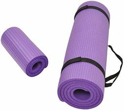 Exercise Yoga Mat & Knee Pad With Carrying Strap 1/2 Inch Ex