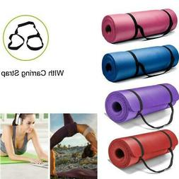 Extra 8mm Thick Exercise Mat Yoga Gym Workout Fitness Gymnas