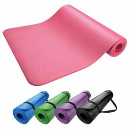 Extra Thick 10mm Exercise Yoga Pilates Mat Gym Fitness NBR 7