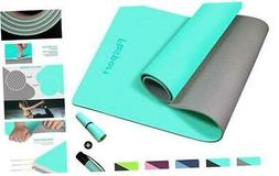 FBSPORT Yoga Mat- Eco Friendly Non Slip 1/4 inch Fitness Exe