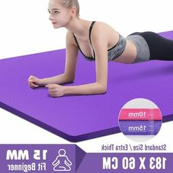 Gym Yoga Pilates Mats With Thick  Non Slip Sports Pad For Fi