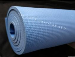 """Indoor Outdoor Exercise Yoga Mat 70""""23"""" Non Slip Blue Thick"""