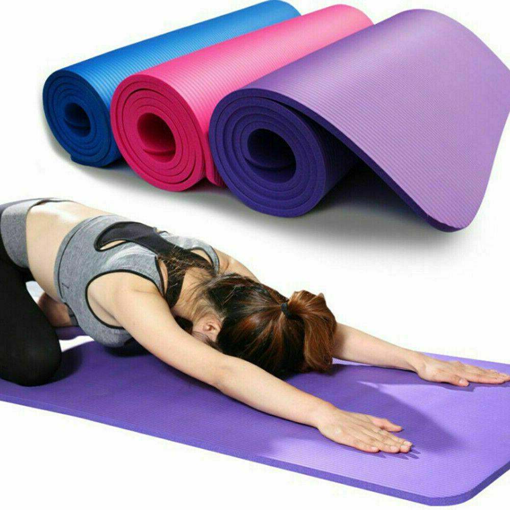 10mm thick yoga mat exercise fitness pilates