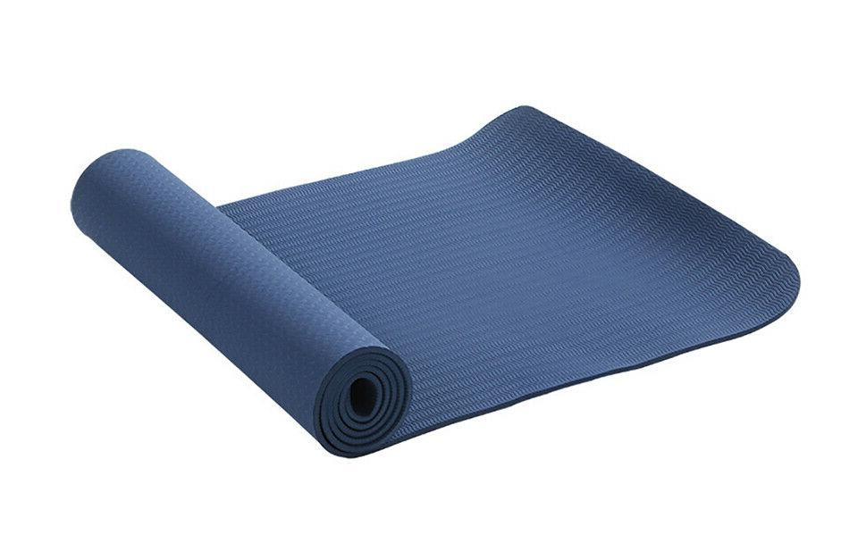 6MM Non Slip Yoga Mats Exercise Sports With Yoga Bag Strap