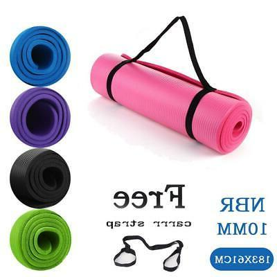 72in x 24in 10mm yoga mat exercise