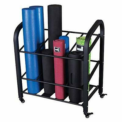 Body-Solid Foam Roller and Yoga Mat Storage Cart