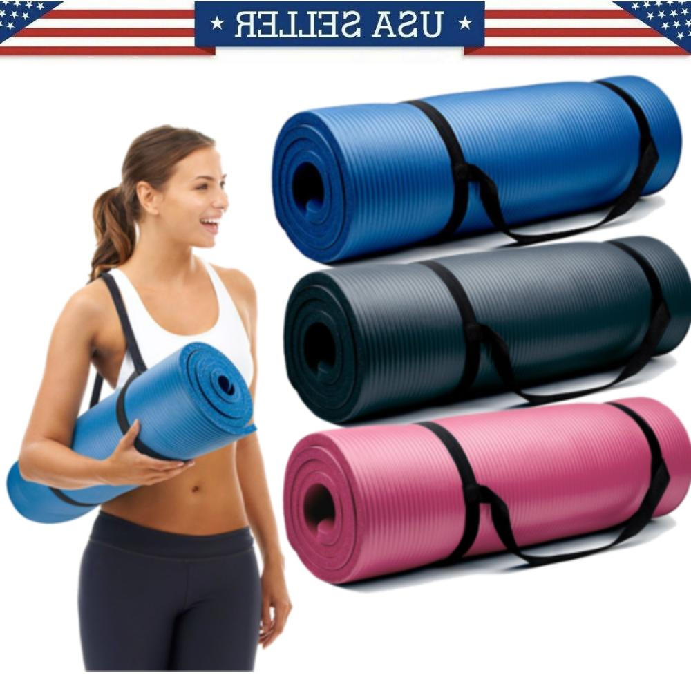 extra thick 10mm exercise yoga pilates mat