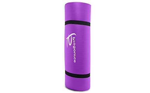 Thick 71-Inch Long Density Yoga Mat with Foam Carrying Frustration-Free Packaging