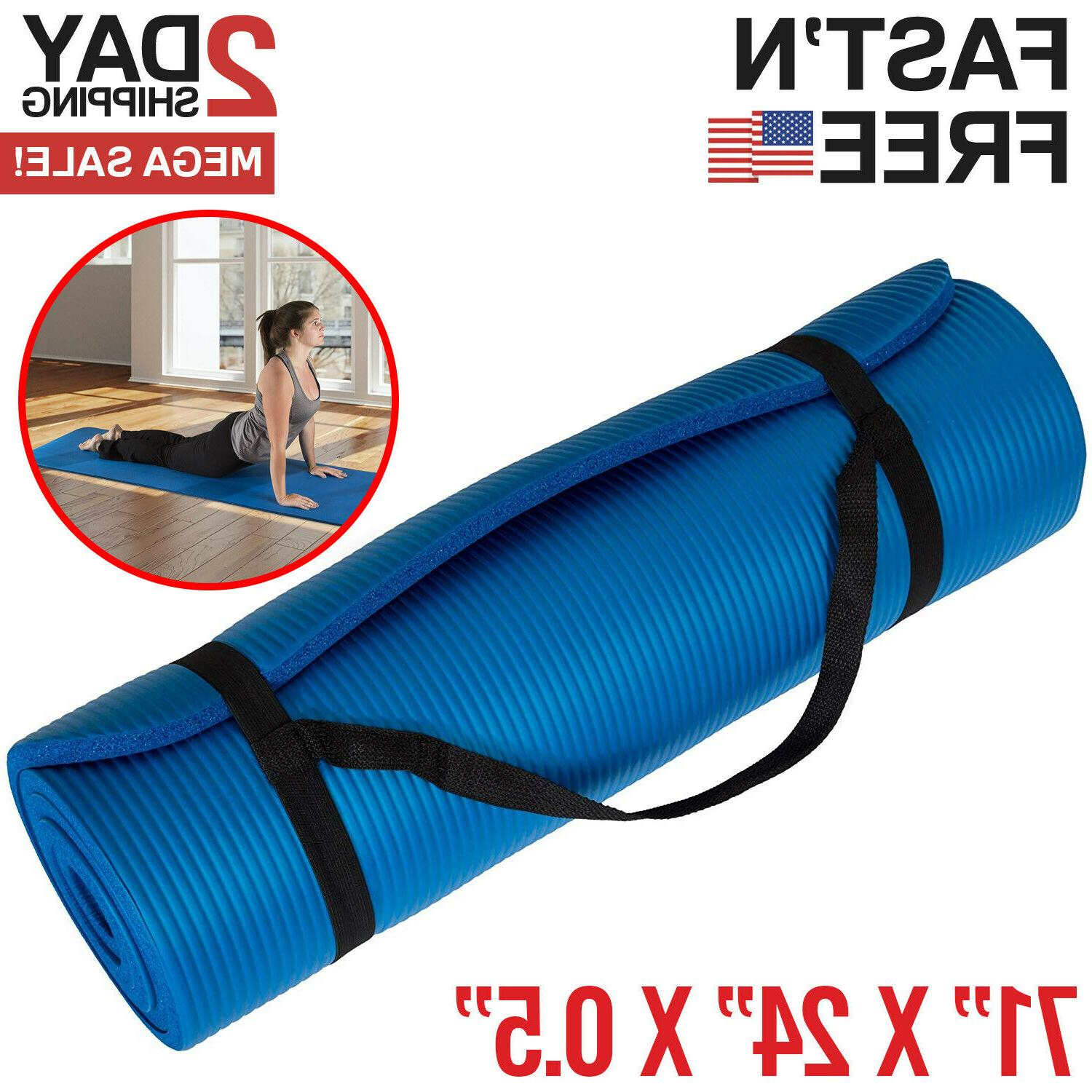extra thick yoga mat exercise mat workout