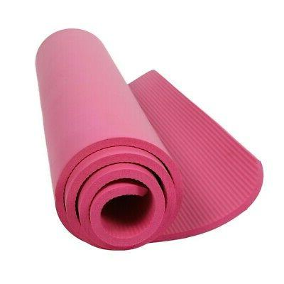 Foam Yoga Mat 1/2-Inch Long Exercise and Pilate