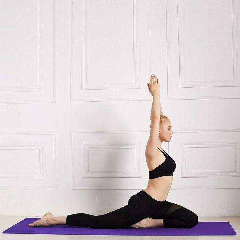 Yoga Mats Thick Non With Straps 3 Color