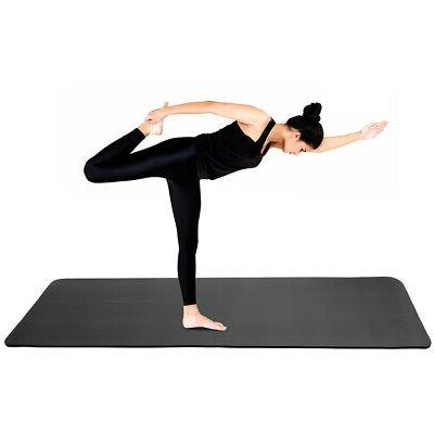 Luck-Fitness Non-Slip 10mm Pad Home Workouts Pilates Gym