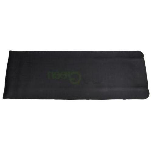 New 10mm Yoga Mat Pad Exercise Fitness Light Weight Black