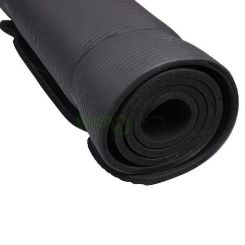 New Thick Non-Slip Yoga Exercise Fitness Weight Black