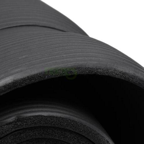 New 10mm Thick Yoga Mat Exercise Fitness Black