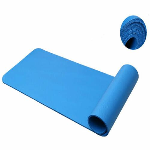 Extra Non-slip Yoga Mat Pad Exercise Fitness Pilates Mat Strap