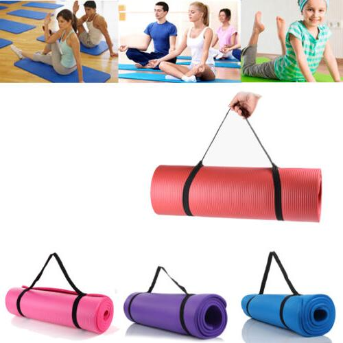 Portable Yoga Mat 8MM Thick Fitness Pad