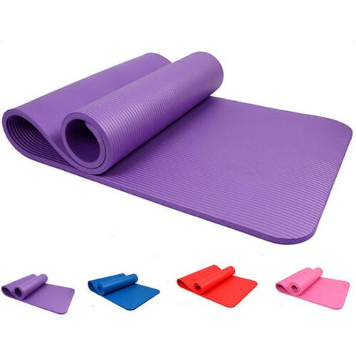 Portable Non-slip Yoga 8MM Thick Fitness Exercise Pad Gym Supplies