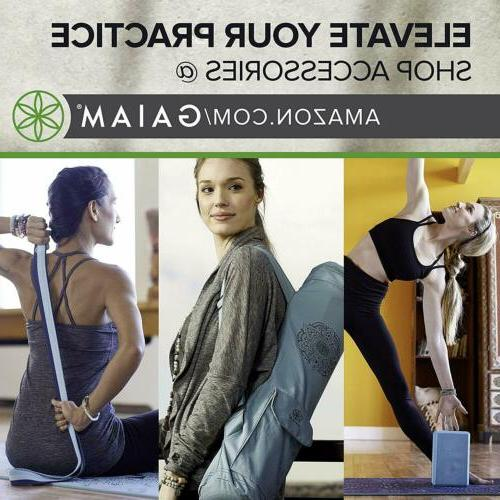 Gaiam Print Mats 2 Colors Exercise Mat Thick Fitness Pilates