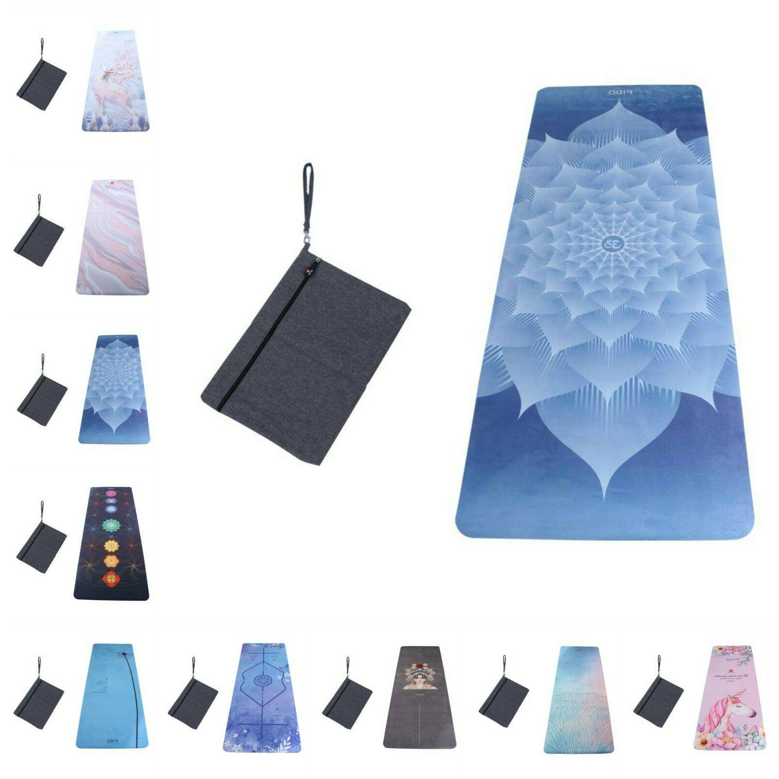 Rubber Yoga Mat Ultra Thin Yoga Pilates Exercise Fitness Gym