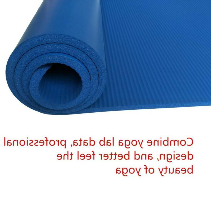 Yoga Mats Thick Exercise Non Slip With Straps 3