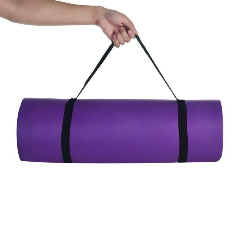 Yoga Mats 0.4 Thick Exercise Gym Non With Straps 3 Color