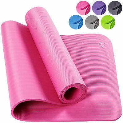 Pink Yoga Mats Extra Thick Carrying Strap High Density Anti-