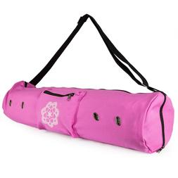 Peace Yoga Mat Carrier Tote Bag with Ventilation Eyelets & A