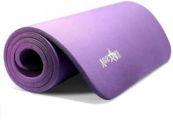 Yes4All Premium NBR Printed Yoga Mat 1/2-inch  with Carrying