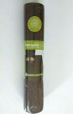 "NEW GAIAM Premium Double Thick 5mm 68"" x 24"" Yoga Mat Brown"